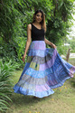Indian Cotton Block Printed Long Skirt Women Casual Fashionable Skirt