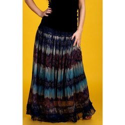 Moss Crepe Flared Long Skirts