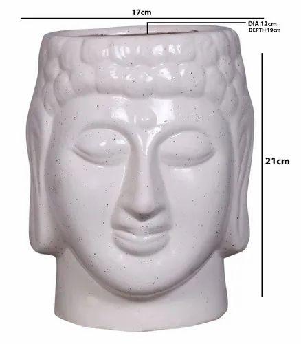 Ceramic Buddha Shape Flower Vase / Pot Planter for Garden for Home Office