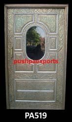 Carved Silver Metal Door