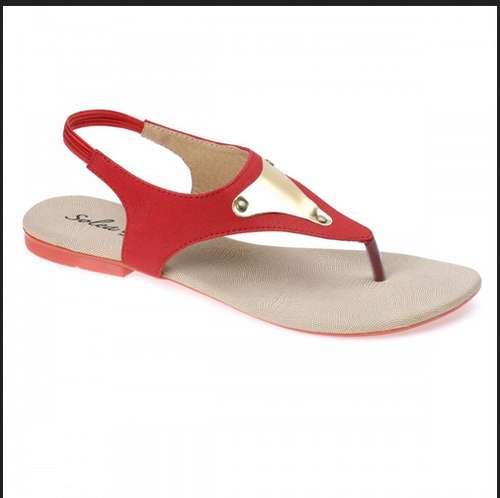 85e8806a06b2 Paragon Women Red Sandal Slippers at Rs 335  pair