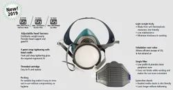 Venus V400 Dolphin Mask with P2 filters Reusable Mask with replaceable filters