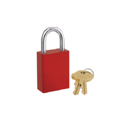Red Premier Lockout Safety Padlocks, Padlock Size: 40 mm