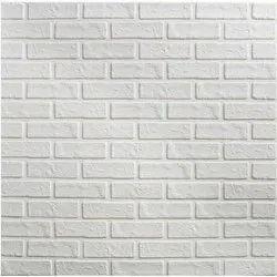 Matte White Foam Wall Brick Sheets, Thickness: 5-10 mm, Size: 1 x 10 Meter