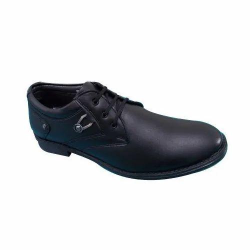 a22d6e810d19 Formal Black Mens Derby Leather Shoes, Size: 6-10, Rs 1300 /pair ...