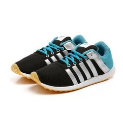 Mens Black Sea Green Polyester Jogging, Walking & Running Shoes