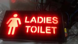Ladies Toilet LED Sign Board