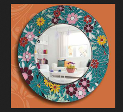 Round Multi Colour Designer Mirror