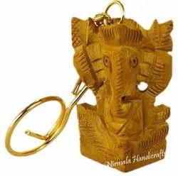 Wooden Ganesha Key Chain