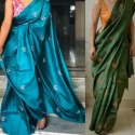 Stylish Tussar Silk Linen Jamdani (craft) Saree - Ethnics Land