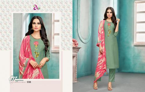 1dfae3f55c Angroop Plus Launch Diana Vol 2 Wholesale Muslin Silk Embroidery Suits