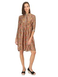 Ladies Synthetic Soft Silk Dress
