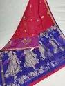 Indian Ethnic Designer Meena Work Pure Handloom Double Wrap Kanchipuram Silk Saree