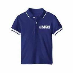 Black And Blue Plain Men Half Sleeve T Shirt