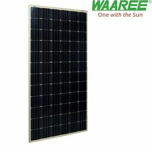 Waaree 350 Watt Monocrystaline Solar Panel Voltage 24 V Rs 24 00 Watt Id 20904480691