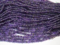 Amethyst Smooth Rondelle Gemstone Beads 6-7mm