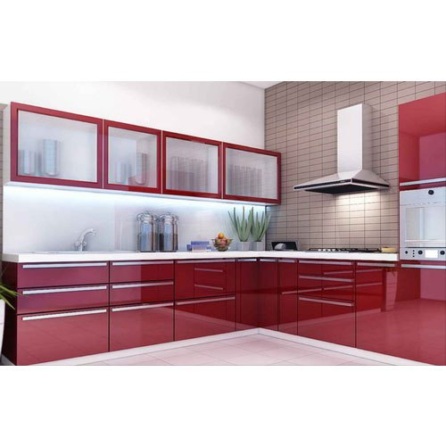 L Shape Designer Modular Kitchen Kitchen Cabinets Rs 1050 Square Feet Id 20941745273