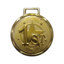 Round Embossed Gold Plated Medal
