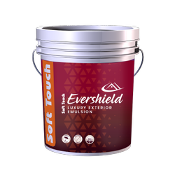 High Sheen White Soft Touch EVERSHILED Luxury exterior emulsion 20 ltr