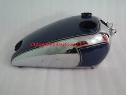 New Bsa C10 C11 Blue Painted Chromed Petrol Tank