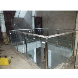 Stainless Steel  Modern Glass Railing