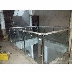 Stainless Steel  Modern Glass Railing