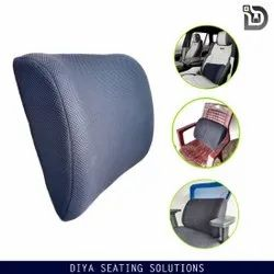 Pu Moulded Foam Black Backrest Pillow, For Every Seat, Shape: Rectangular
