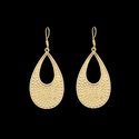 Women Statement Hammered Brass Dangle Earrings