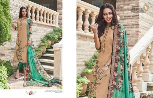 57b5fb0538 Designer Pure Jam Suit With Embroidery & Print Border Suit at Rs 995 ...