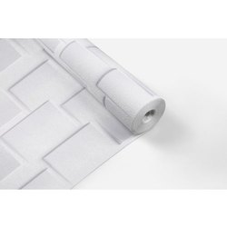 White 3D PVC Coated Paper Cabinet Rolls, Thickness: 180 Gsm