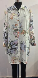 Long Shirt Digital Printed With Embellishment