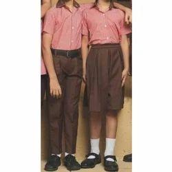 Collar Summer School Uniform, Size: FREE SIZE
