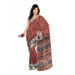 Cotton Casual Wear Ikkat Saree, Length: 5.5 m