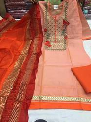 Chanderi Party Wear Suits