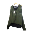 Girls Cotton Sleeveless Green Top