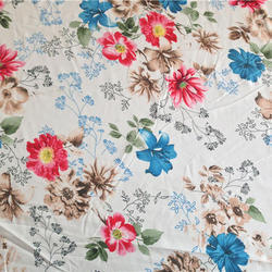 Cotton Printed Bed Sheet Fabric