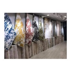Polyester Printed Hand Notted Modern Design Carpet