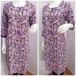 Violet Cotton Kurti