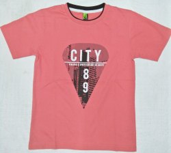 Pink Color Printed Tshirt