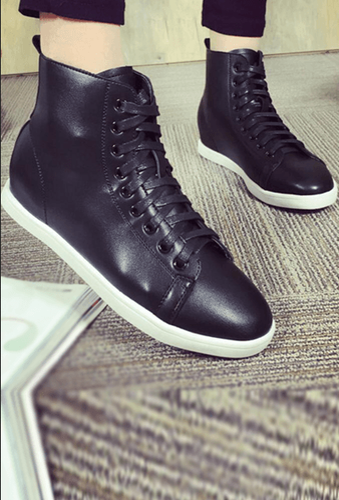 Men Chic Black Sneakers, StreetStyle