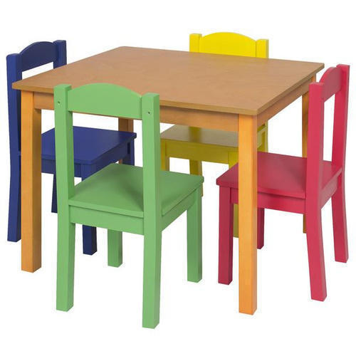 4 Seater Kids Wooden School Chair And, Wooden School Desk And Chair