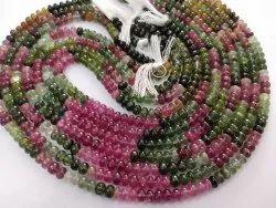 AAA+ Natural Multi Tourmaline Gemstone 5-6 MM Roundel Stone Beads 16 Inches Strand