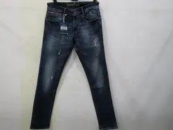 Mens Dark Blue Colour Slim Fit  Stretch Jeans(PW-07)