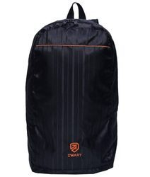 Black and Orange Plain Backpack