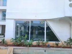 Silver Coated Jindal Aluminium Sliding Window, For Home
