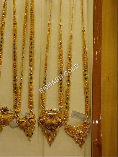 Long Gold Mangalsutra Rishabh Gold Jewels India Private