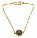 Aqua Chalcedony Pave Set Gemstone Bracelet