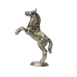 Silver Plated Horse Statue
