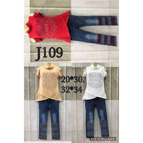 4ba00a1a92f Casual Hosiery And Denim Girls Designer Jeans And Top