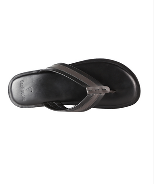 Men Van Heusen Black Flip Flops